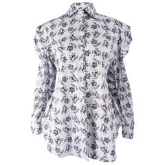 English Eccentrics Vintage Womens Pleated Puff Sleeve Poet Shirt