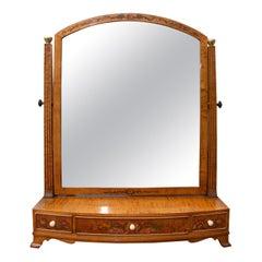 English Edwardian Adams Style Dressing Table Mirror