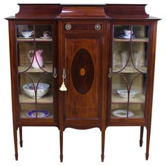 English Edwardian Inlaid Mahogany Side Cabinet by Shapland and Petter
