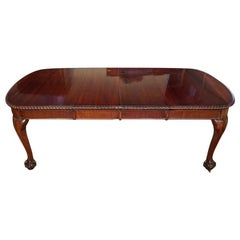 English Edwardian Mahogany Extending Dining Table, circa 1910