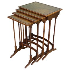 English Edwardian Period Nest of 4 Tables