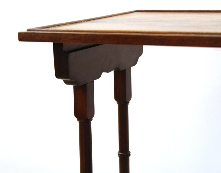 English Edwardian Style Nesting Tables For Sale 5