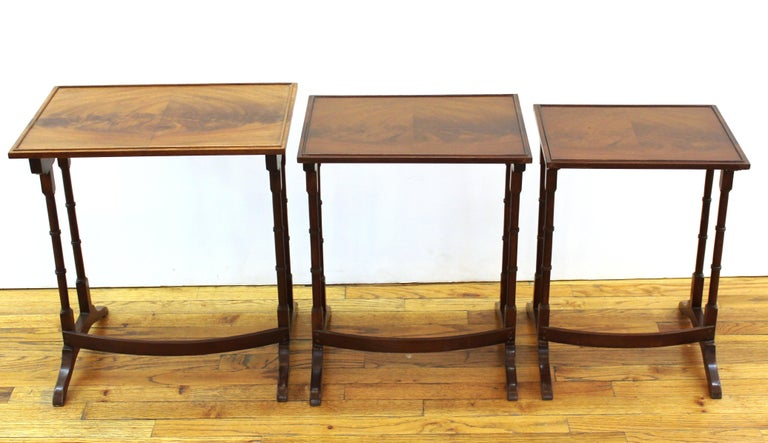 English Edwardian Style Nesting Tables For Sale 1