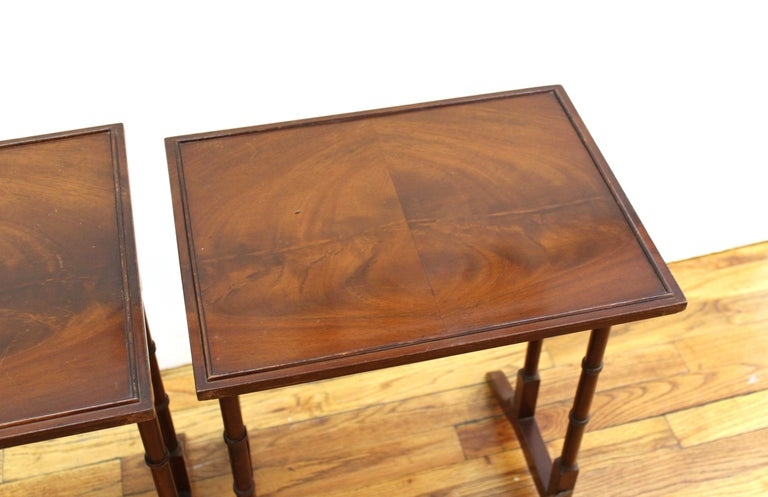 English Edwardian Style Nesting Tables For Sale 2