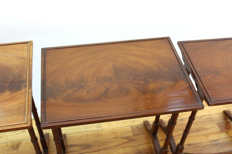 English Edwardian Style Nesting Tables For Sale 3