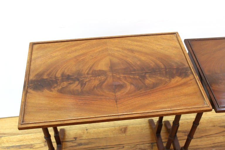 English Edwardian Style Nesting Tables For Sale 4
