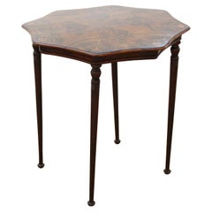 English Edwardian Style Parquetry Side Table