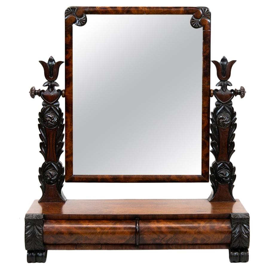 English Empire Dressing Mirror
