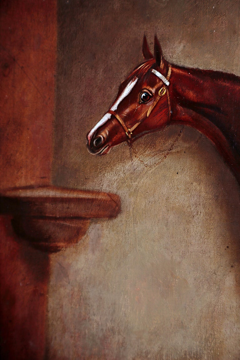 English Equine Portrait / Ratton by Charles Faulkner '1833-1892' Unframed For Sale 3