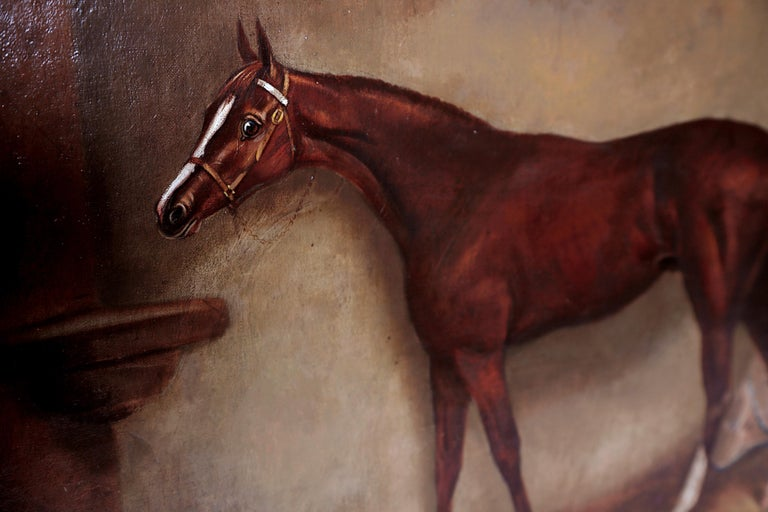 English Equine Portrait / Ratton by Charles Faulkner '1833-1892' Unframed For Sale 1