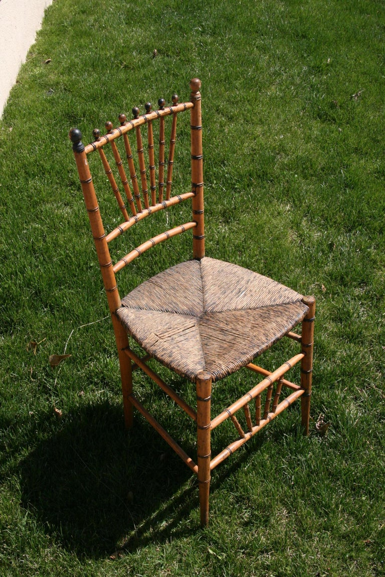 3-505 English faux bamboo chair.