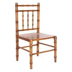 English Faux Bamboo Child's Chair