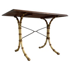 English Faux Bamboo Table, Early 20th Century