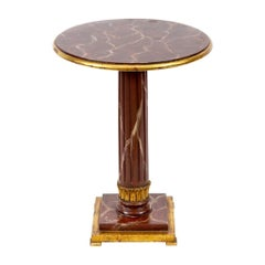 English Faux Marble-Top Table