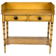 English Faux Painted Bamboo Washstand