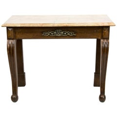 English Faux Painted Console Table