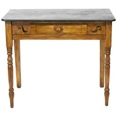 English Faux Painted One Drawer Side Table