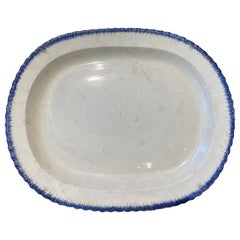 English Featherware Platter by Enoch Wood & Sons Burslem, Marked, circa 1830
