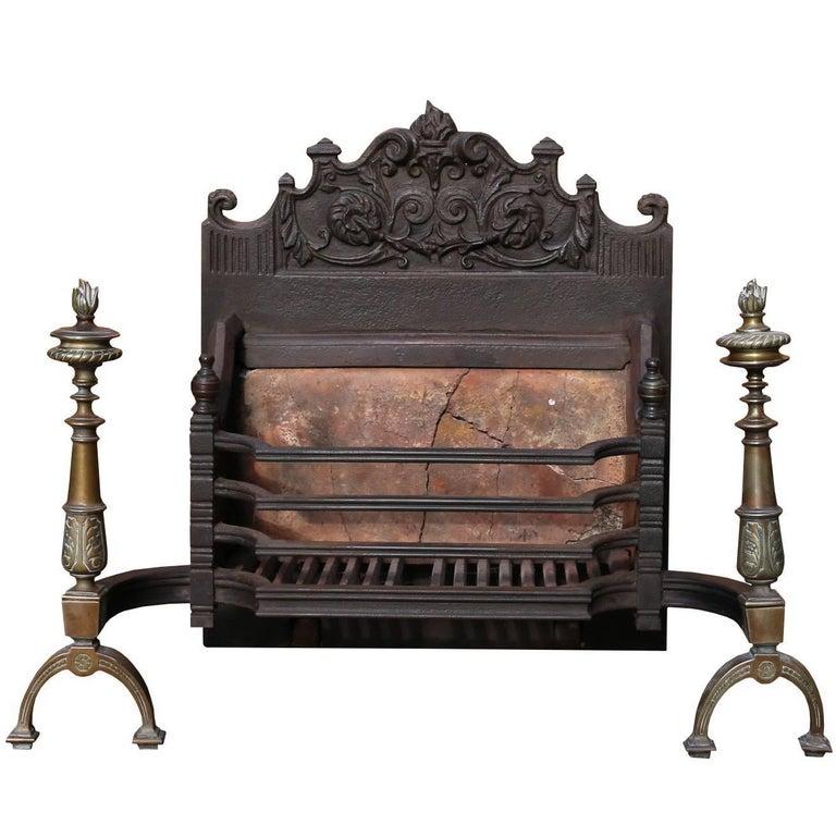 English Fire Grate, circa 1910 For Sale