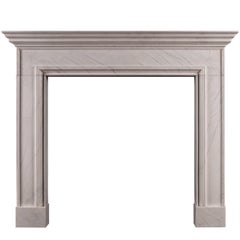English Fireplace in White Marble