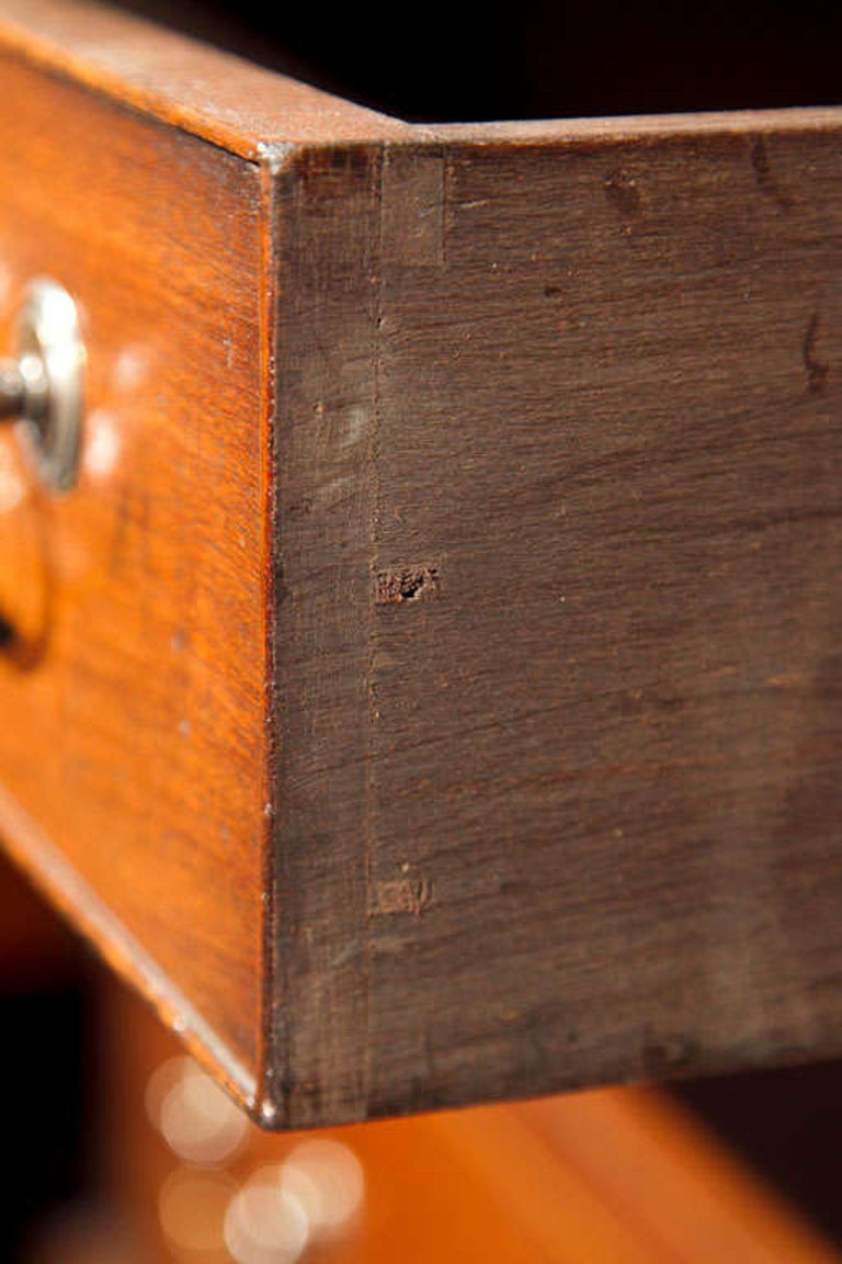 Mahogany English Five-Drawer Chest with Slide For Sale