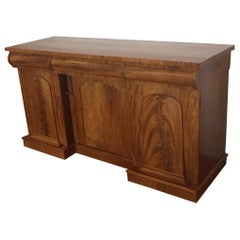 English Flamingo Mahogany Sideboard-Bar, 19th Century