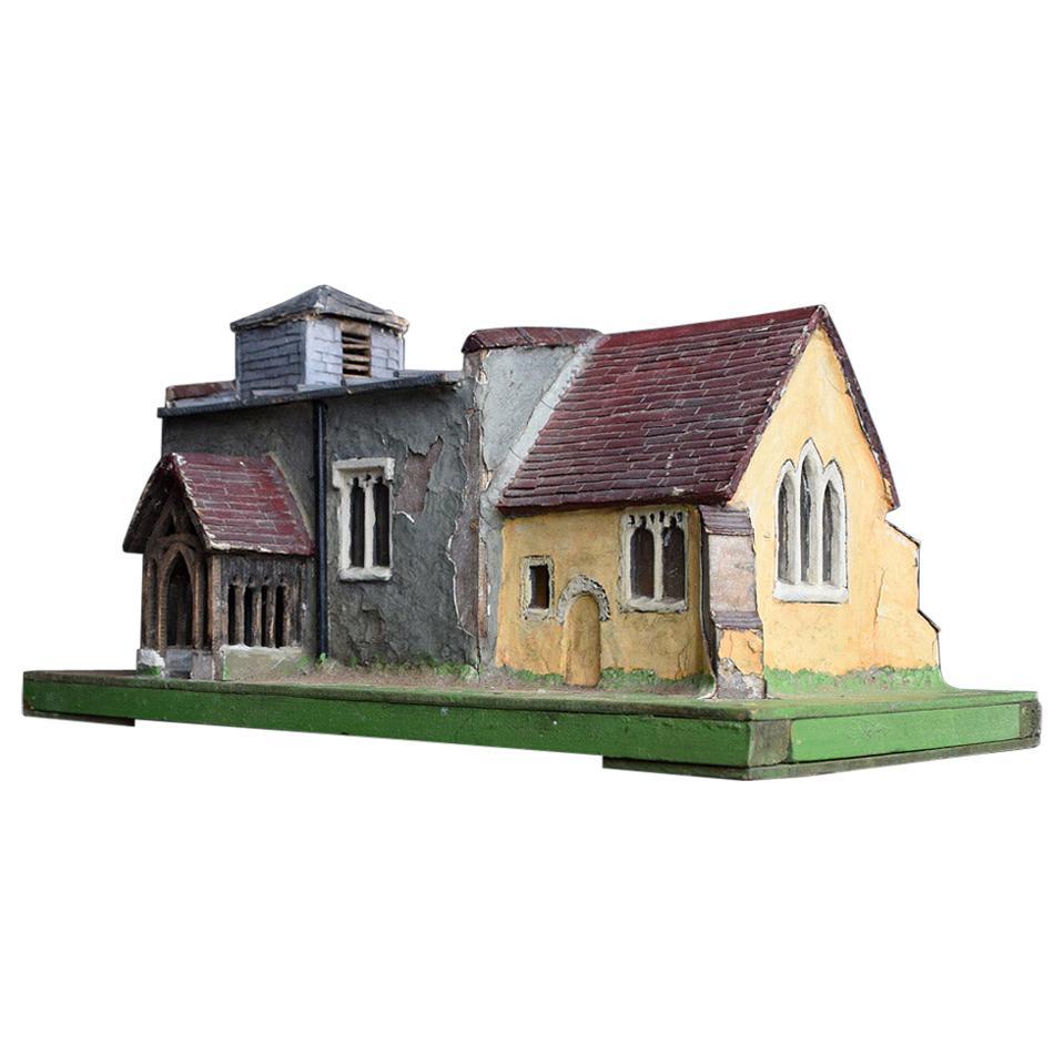English Folk Art Church Model