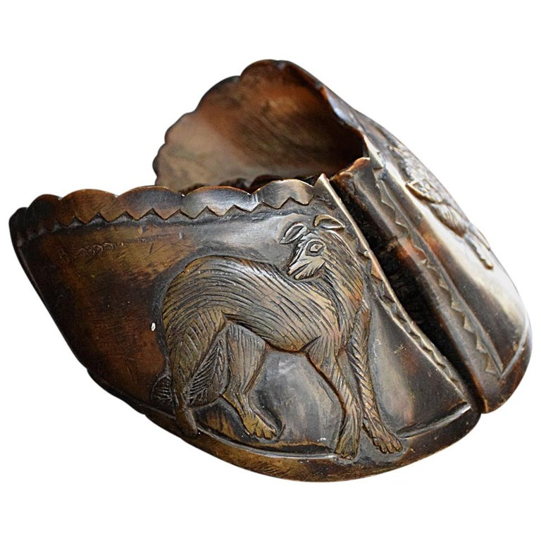 English Folk Art Carved Hooves, circa 1850 For Sale