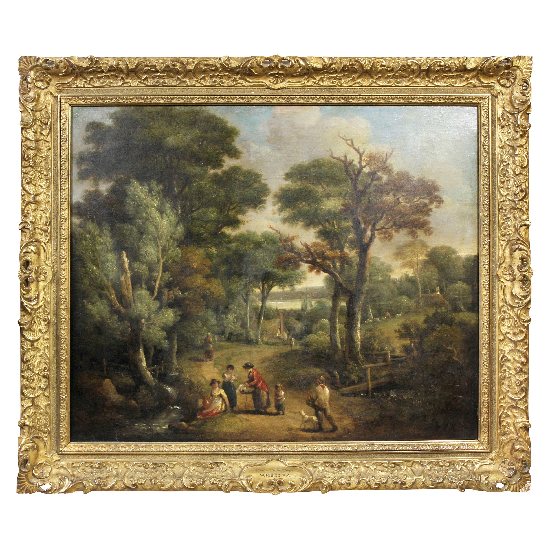 English Framed Oil on Canvas by W. R Biggs