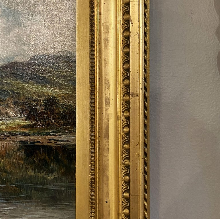 English Framed Oil Painting of River Landscape by Andrew Lennox For Sale 7