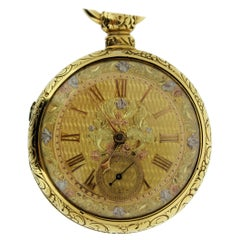 English Fusee Pair of Case Pocket Watch, circa 1802 Liverpool, England