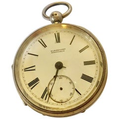English Fusee Silver Pocket Watch by Sambrooks, Sheffield for Spares or Repair