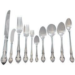 English Gadroon by Gorham Sterling Silver Flatware Set 8 Service 94 Pcs Dinner