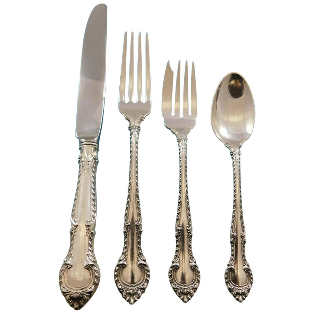 Sterling Silver Flatware Gorham English Gadroon Serving Spoon