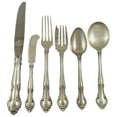English Gadroon by Gorham Sterling Silver Flatware Set for 12 Service 82 Pieces