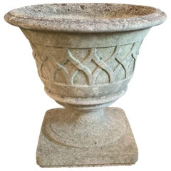 English Garden Stone Planters with Celtic Lattice Design, Individually Priced