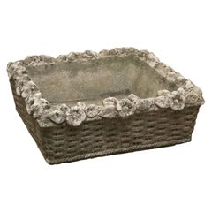 English Garden Stone Square Low Planters 'Individually Priced'
