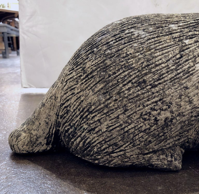 English Garden Stone Statue of a Badger For Sale 10