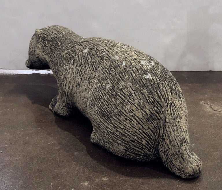 English Garden Stone Statue of a Badger For Sale 2