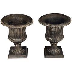English Garden Urns of Cast Iron with Pewter Finish, 'Individually Priced'