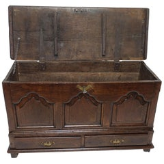 English George I Oak Coffer, Early 18th Century
