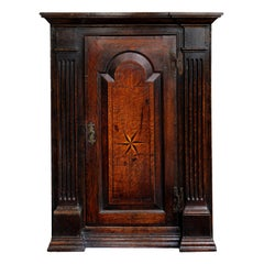 English George I Oak Corner Cupboard, ​circa 1730