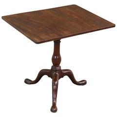 English George II Mahogany Rectangular Tilt-Top Tea Table, circa 1750