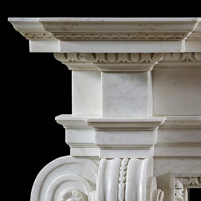 British English George II Palladian Fireplace Mantel For Sale