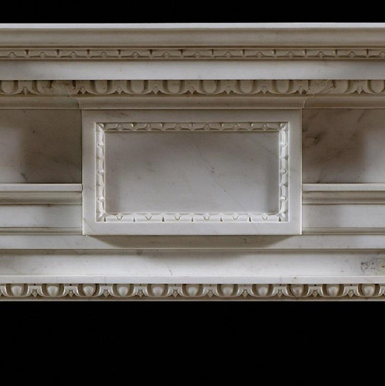 Carved English George II Palladian Fireplace Mantel For Sale