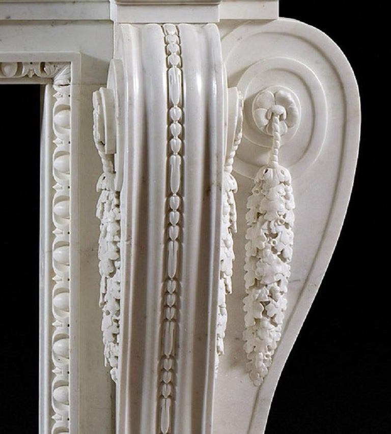 English George II Palladian Fireplace Mantel In Good Condition For Sale In London, GB
