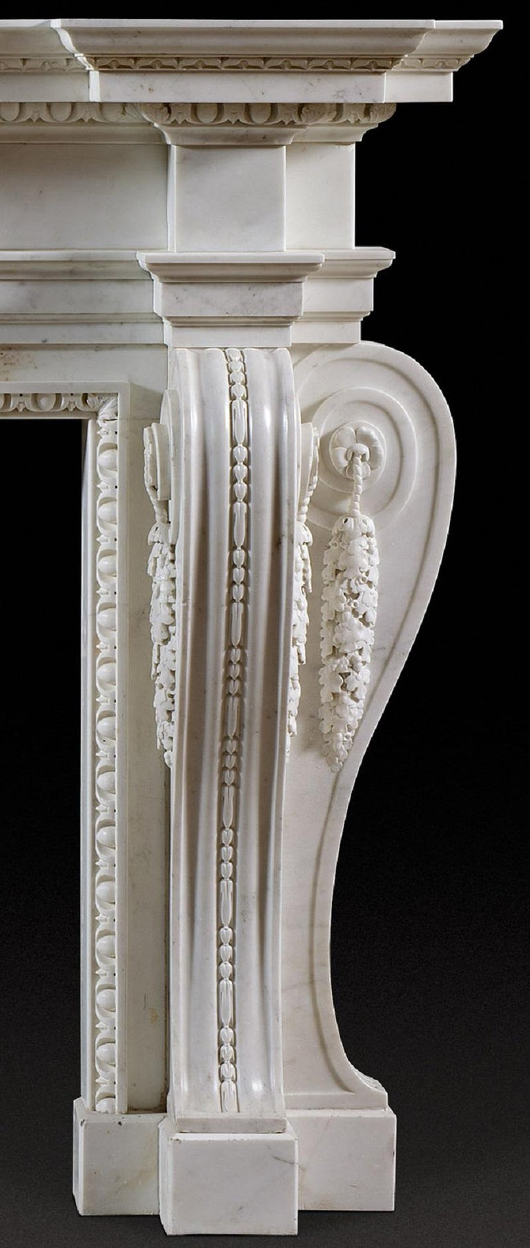 Early 18th Century English George II Palladian Fireplace Mantel For Sale