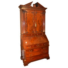 English George II Style Chest of Drawers, Bookcase and Drop Down Desk
