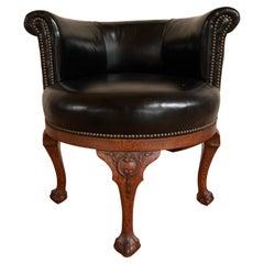 English George II Style Swivel Desk Chair