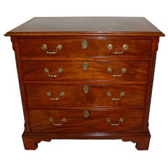 English George III Chippendale Mahogany Chest of Drawers Carved Blind Fretwork